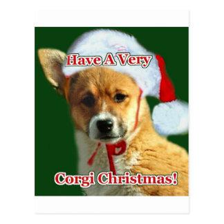 Corgi Christmas Pup- Mercy Postcard