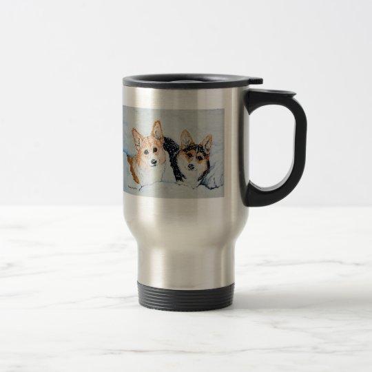 Corgi Christmas Travel Mug