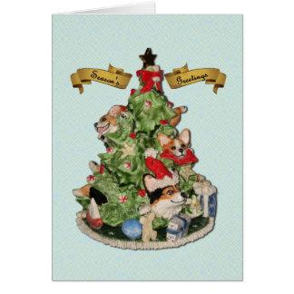 Corgi Christmas Tree Greeting Card