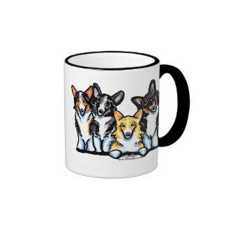 Corgi Clan Ringer Coffee Mug