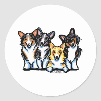 Corgi Clan Classic Round Sticker