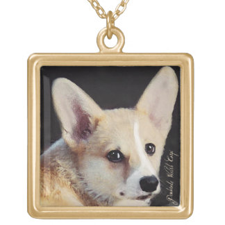 Corgi Considering Gold Plated Necklace