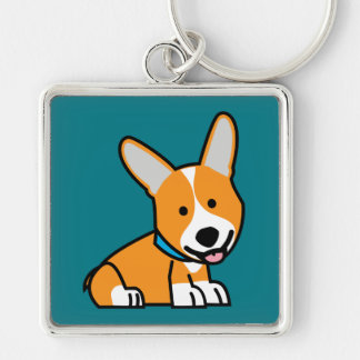 Corgi Corgis dog puppy doggy happy Pembroke Welsh Keychain