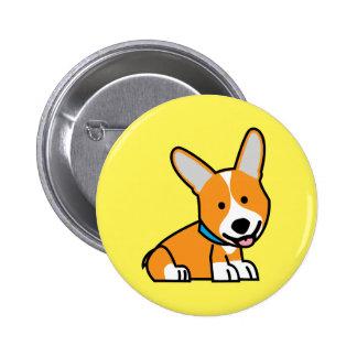 Corgi Corgis dog puppy doggy happy Pembroke Welsh Pinback Button
