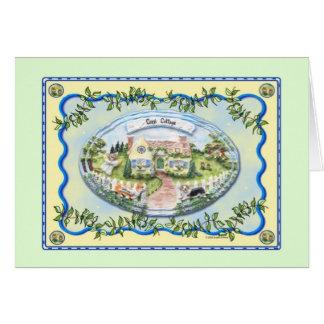 Corgi Cottage Greeting Card