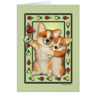 Corgi Couple Greeting Card
