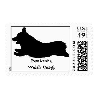 Corgi Courier Postage Stamp