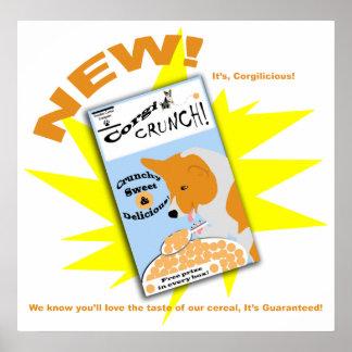 Corgi Crunch cereal Poster
