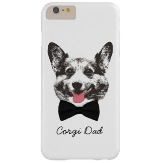 Corgi Dad Cute Dog Face with Bow Tie Barely There iPhone 6 Plus Case