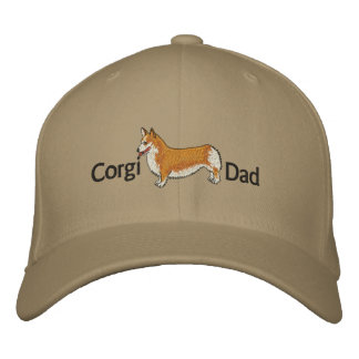 Corgi Dad Embroidered Hat Embroidered Baseball Cap