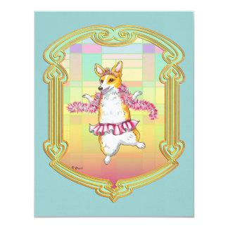 Corgi Dancing Ballerina Valentine Card
