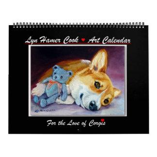 Corgi del amor del calendario del Corgi Galés del