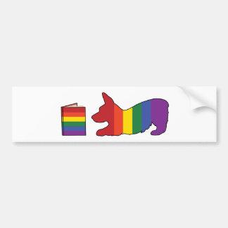 Corgi del arco iris pegatina para auto