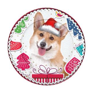 Corgi del navidad de Smilng Paquete Pequeño De Tapa Botones