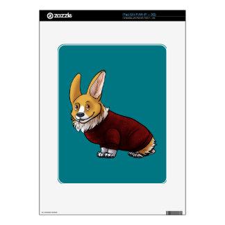 corgi del suéter calcomanías para el iPad