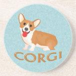 corgi dog beverage coasters