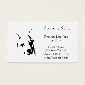 Corgi Dog Black and White Ink Sketch Business Card