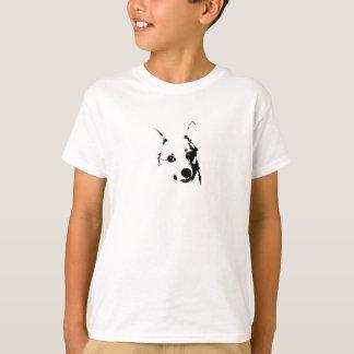 Corgi Dog Black and White Ink Sketch T-Shirt