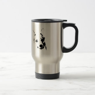 Corgi Dog Black and White Ink Sketch Travel Mug