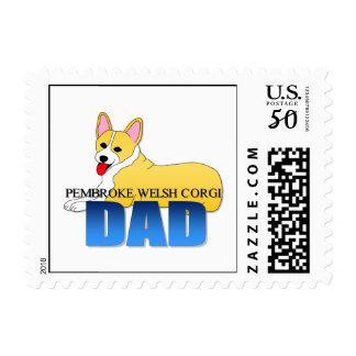 Corgi Dog Dad Postage