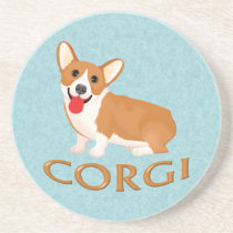 corgi dog drink coaster