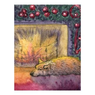 Corgi dog festive dreaming customized letterhead
