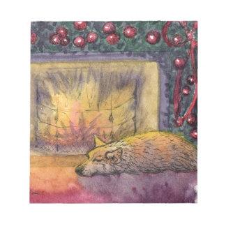 Corgi dog festive dreaming memo note pads