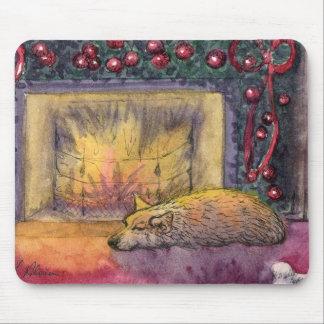 Corgi dog festive dreaming mousepad