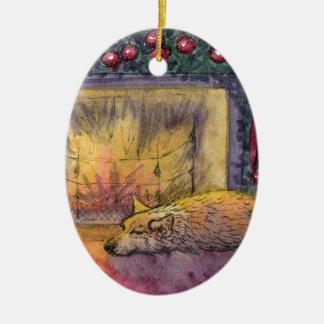 Corgi dog festive dreaming christmas tree ornaments