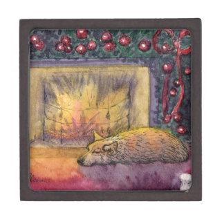 Corgi dog festive dreaming premium trinket boxes