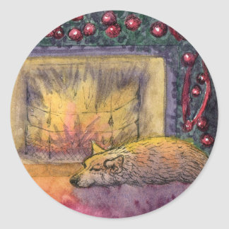 Corgi dog festive dreaming sticker