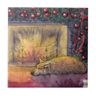 Corgi dog festive dreaming tiles