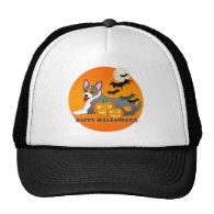 Corgi Dog Halloween Mesh Hat