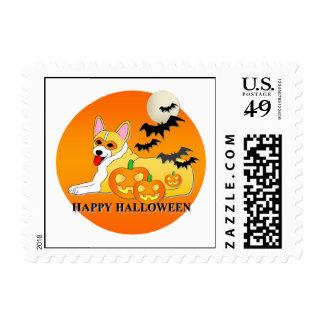 Corgi Dog Halloween Postage