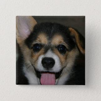 Corgi Dog Square Pin