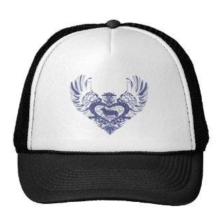 Corgi Dog Winged Heart Trucker Hats
