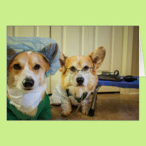 Corgi dr and nurse Get Well Soon! Card