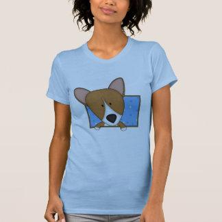 Corgi enmarcado del dibujo animado camiseta