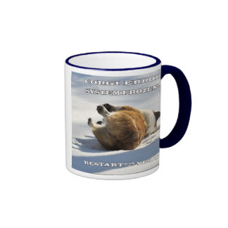 Corgi ERROR Ringer Coffee Mug