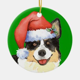 Corgi feliz Galés de la rebeca de Howliday Adornos De Navidad