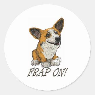Corgi Frap Classic Round Sticker