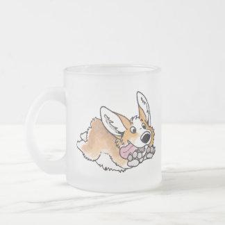 Corgi Frosted Glass Coffee Mug