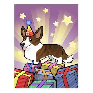 Corgi Galés de la rebeca del cumpleaños Tarjeta Postal