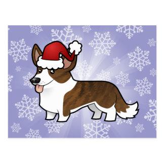 Corgi Galés de la rebeca del navidad Postales