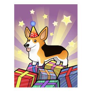 Corgi Galés del Pembroke del cumpleaños Tarjetas Postales