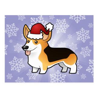 Corgi Galés del Pembroke del navidad Postales