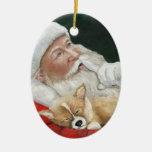 Corgi Galés del Pembroke y ornamento del arte de S Ornamento De Reyes Magos