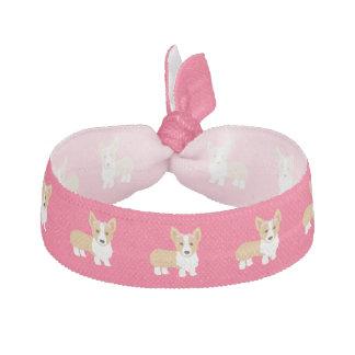 Corgi Girl Dog Pink Hair Tie