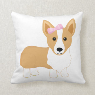 Corgi Girl Pillow
