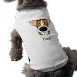 Corgi grande lindo de la nariz camiseta de perro